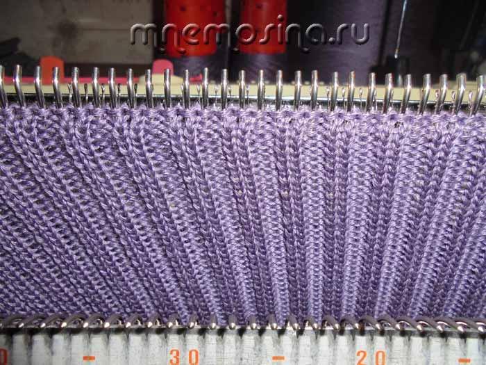 Вязание рукава на вязальной машине 80