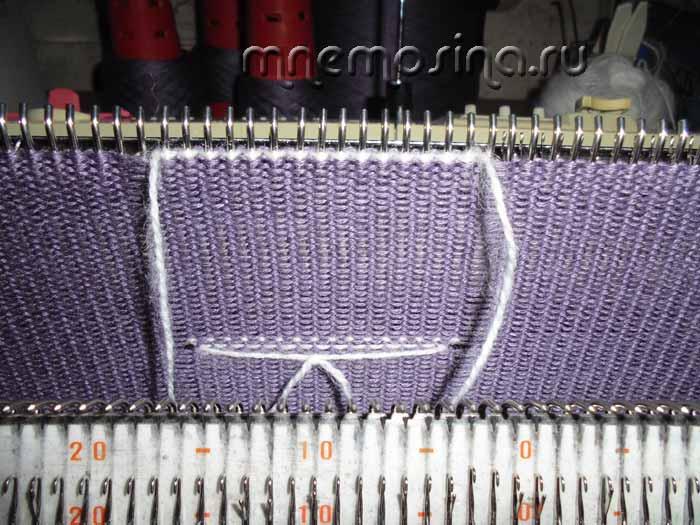 поперечное вязание кофточек