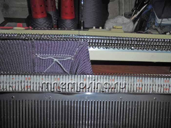 Вязание рукава на вязальной машине 77