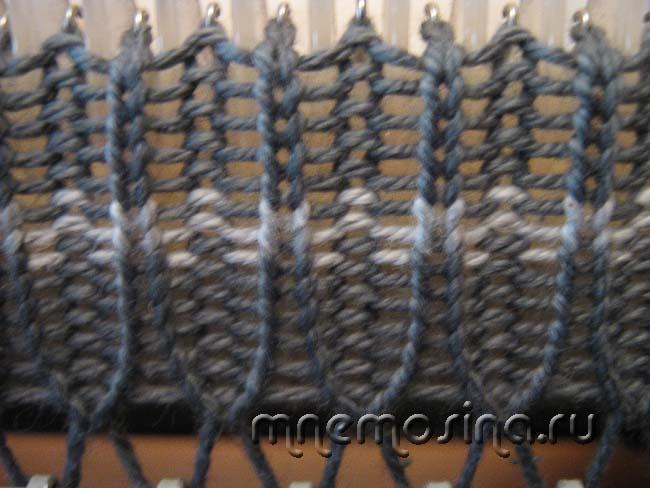 Вязание на машинке резинки 40