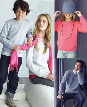вязание для всей семьи вязананый пуловер модель 1
