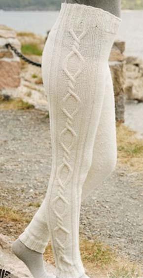Вязание для женщин.Вязаные лосины. Модель 125