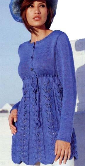 Вязание для женщин. Туника. Модель 133