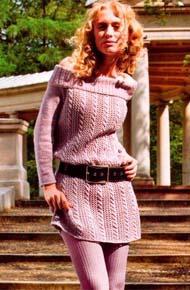 Вязание для женщин. Вязаная туника