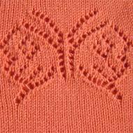 ажурный узор для вязания бабочка