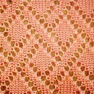 ажурный узор для вязания ромбы