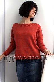 Вязание для женщин.Вязаный джемпер оверсайз