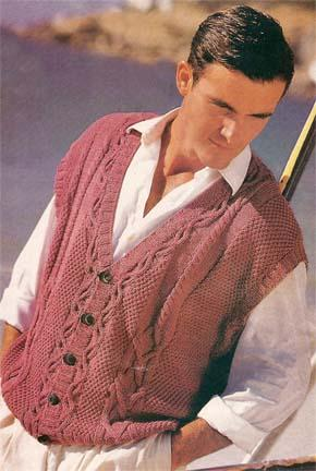 Вязание для мужчин. Жилет на