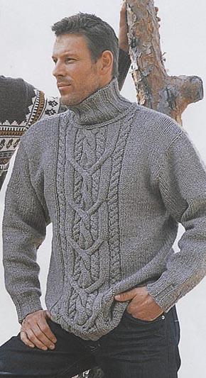 Вязание для мужчин. Свитер с
