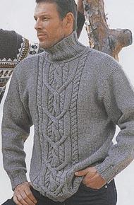 Мужские джемпера свитера вяжем