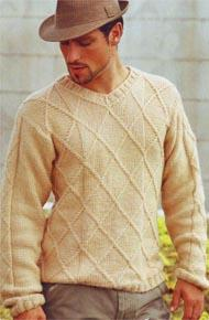Мужские модели вязания. Вязание спицами и на машине.