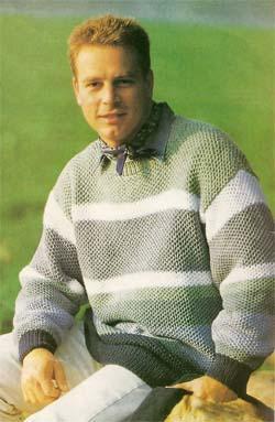 Вязание для мужчин. Пуловер.