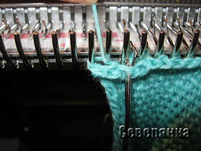 Вязание рукава на вязальной машине 3