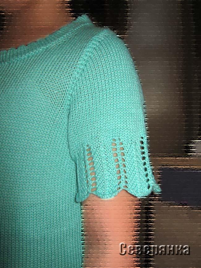 Вшиваем втачной рукав на