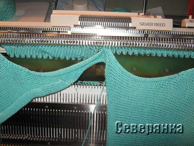 Вязание рукава на вязальной машине 76