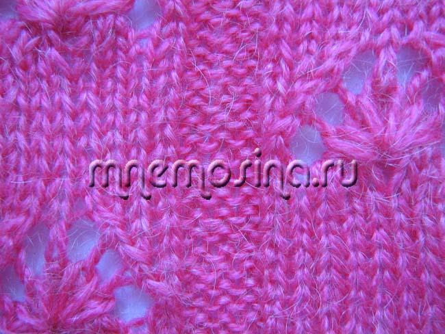 Ажурный узор для вязания
