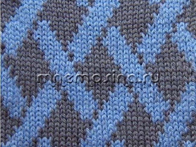 Вязание. жаккрадовый узор