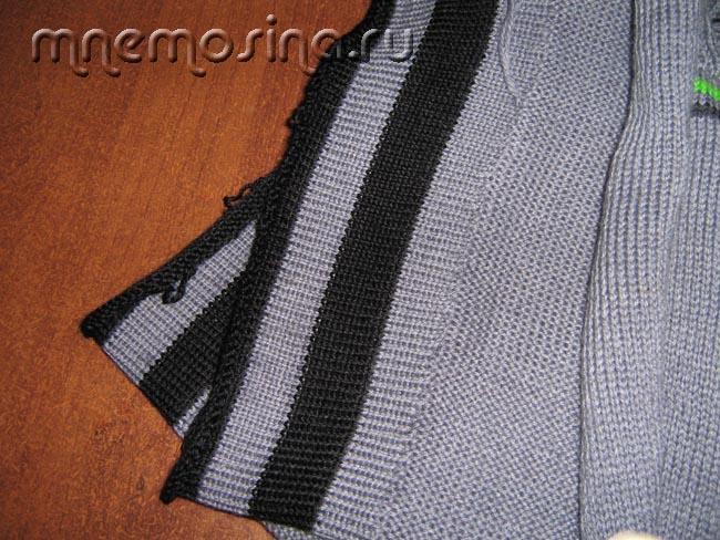 урок вязания на вязальной машине вшиваем застежку молнию на