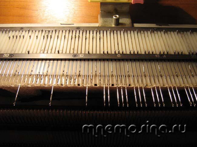 Частичное вязание на однофонтурной вязальной машине 131