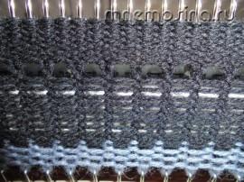 Мастер класс по вязанию на машине. В 11 ряду выдвигаем иглы из ЗНП в РП, теперь все иглы 88-0-88 вяжут.