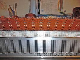 Мастер класс по вязанию на вязальной машине. Женское вязаное платье-туника