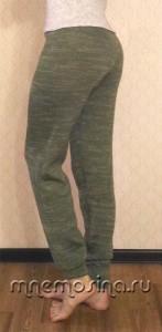 Вязаные штаны-джоггеры