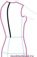 Мерки. Длина спины до талии.