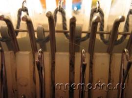 Вязание. Урок вязания на машине. Начало вязания. Плотный наборный ряд резинкой.