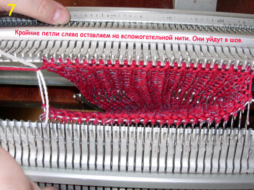 Двухфонтурное машинное вязание