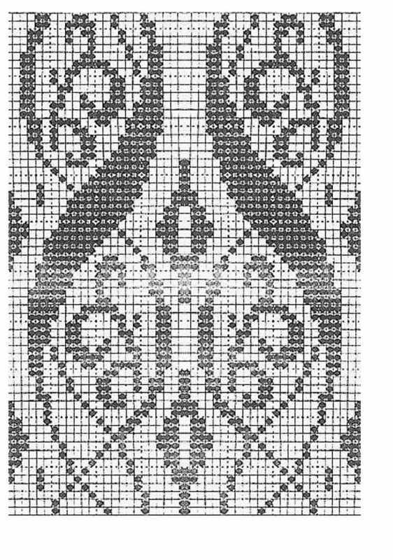 Жаккард схема для вязания 485